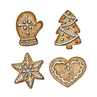 Set di biscotti di panpepato di natale