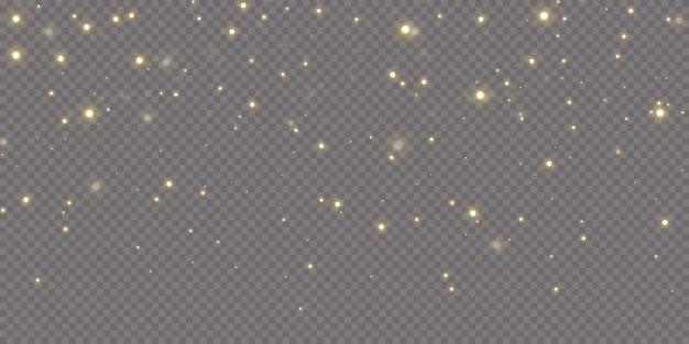 Le stelle dei coriandoli d'oro di natale stanno cadendo,