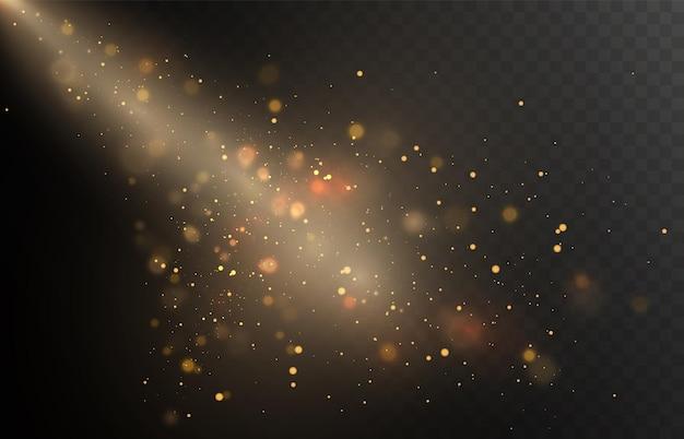 Luci di natale dorate bagliore luminoso sfondo bokeh per illustrazioni vettoriali