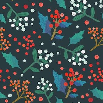 Natale e felice anno nuovo seamless pattern.