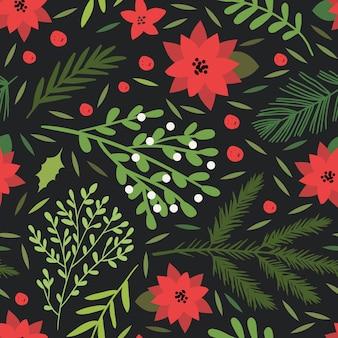Natale e felice anno nuovo seamless pattern