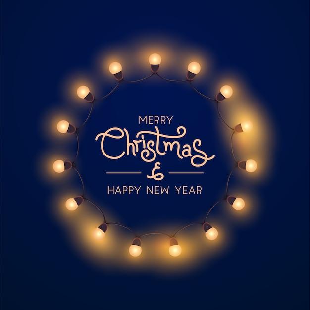 Sfondo di luci natalizie.