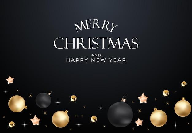 Sfondo festa di natale. modello di manifesto di felice anno nuovo e buon natale. illustrazione vettoriale eps10