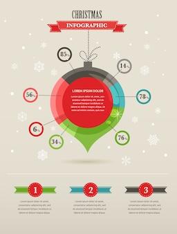 Set di infografica di natale con grafici ed elementi di dati