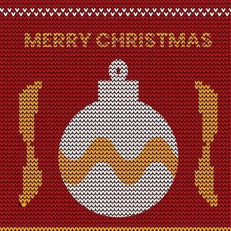 Natale a maglia pattern design
