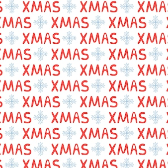 Natale lettering modello di testo natale. buon natale dello sfondo del nuovo anno. illustrazione vettoriale in tonalità rosso bianco per confezioni regalo