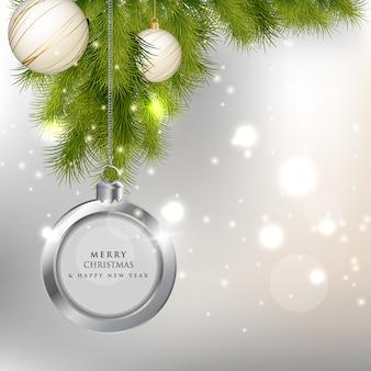 Natale e anno nuovo sfondo 2019