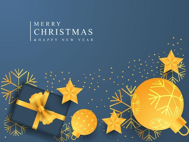 Natale e capodanno sfondo design buon natale felice anno nuovo banner stagionale banner
