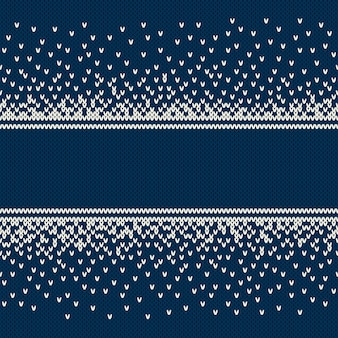 Priorità bassa lavorata a maglia di disegno di natale e capodanno con un posto per il testo. design maglione lavorato a maglia. imitazione di texture in maglia di lana