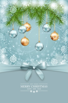 Natale, cartolina d'auguri di capodanno.