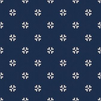 Reticolo di lavoro a maglia di natale e capodanno. design maglione invernale senza soluzione di continuità