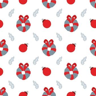 Ornamento di natale seamless pattern