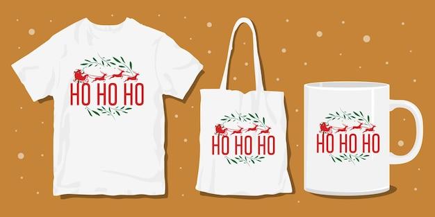 Ornamento di natale maglietta merchandise design