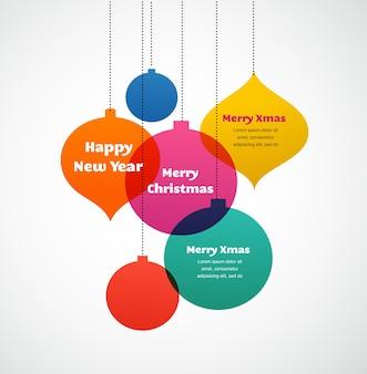 Ornamenti natalizi - biglietto di auguri colorato