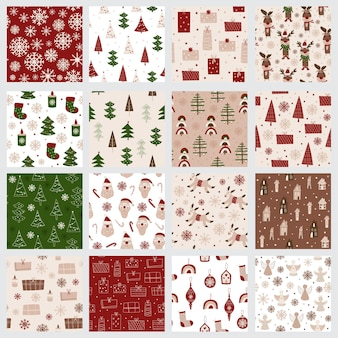 Collezione di motivi natalizi. illustrazione vettoriale.