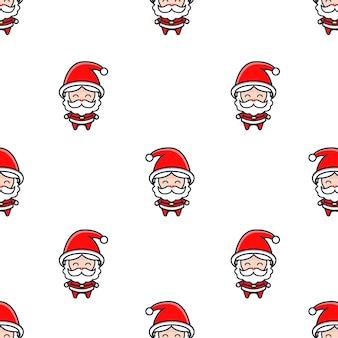 Motivo natalizio con babbo natale