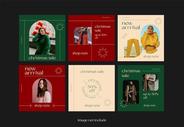 Modello instagram saldi natalizi