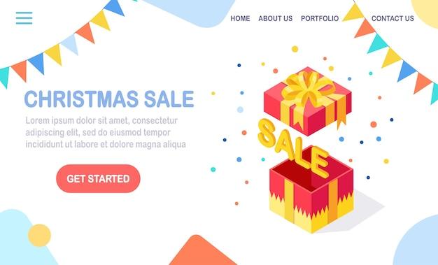 Pagina di destinazione della vendita di natale
