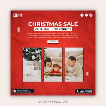 Banner web post vendita di natale sui social media