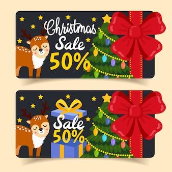 Tag e coupon di vendita di natale.