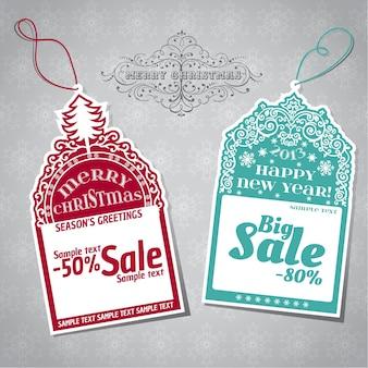 Tag di vendita di natale