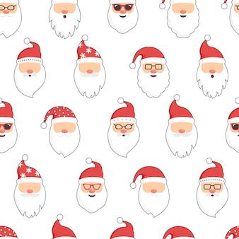 Natale babbo natale modello senza cuciture rosso cappello di babbo natale capodanno vacanze invernali