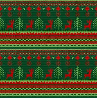 Motivo a maglia senza cuciture natalizio