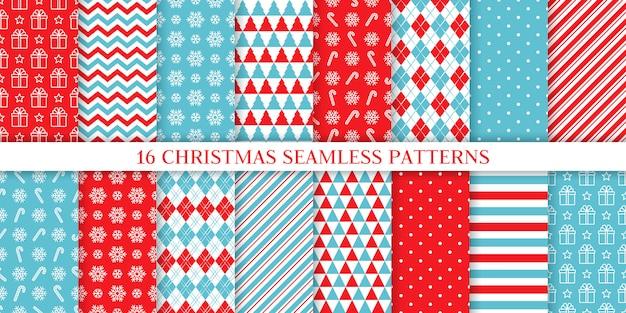 Natale seamless pattern. set festivo