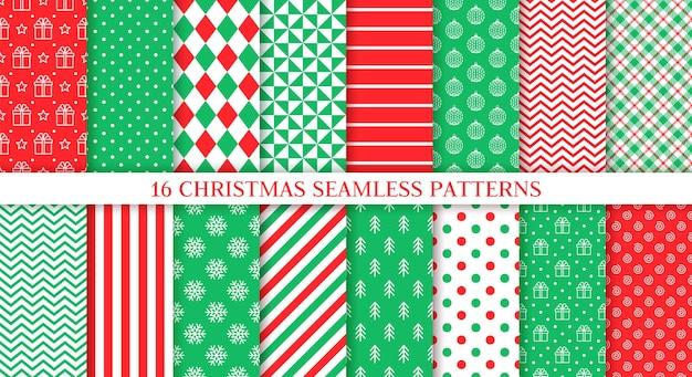 Natale seamless pattern. set di infiniti modelli.