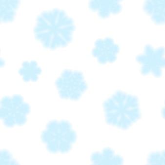 Reticolo senza giunte di natale di fiocchi di neve, azzurro su sfondo bianco
