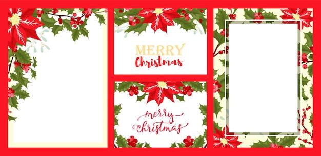 Set di carte stagione natalizia