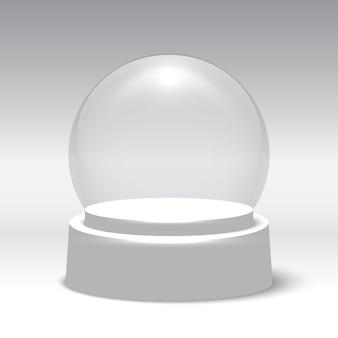 Globo di neve di natale. sfera di vetro.