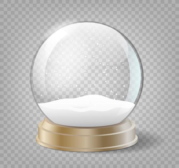 Globo di neve di natale su sfondo trasparente