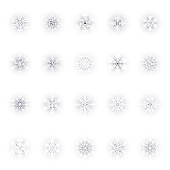 Set di fiocchi di neve di natale
