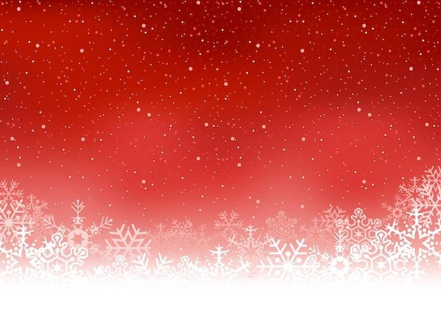 Fiocchi di neve di natale con sfondo invernale
