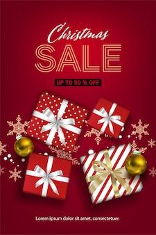 Promozione dei social media natalizi, modelli di post di promozione. cornice quadrata per i social media