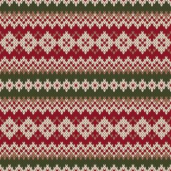 Maglione di natale design. modello lavorato a maglia senza cuciture nel tradizionale stile fair isle