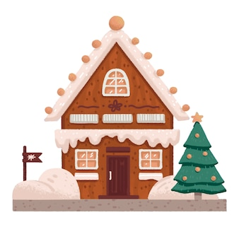 Casa di pan di zenzero dolce di natale