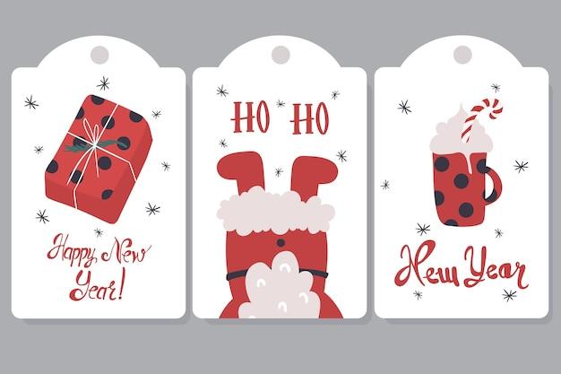 Etichette di natale per l'illustrazione dei regali