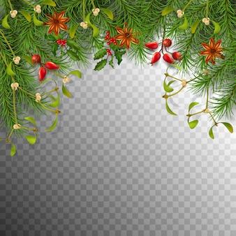Concetto di confine a tema natalizio