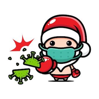 Fumetto di chibi a tema natalizio