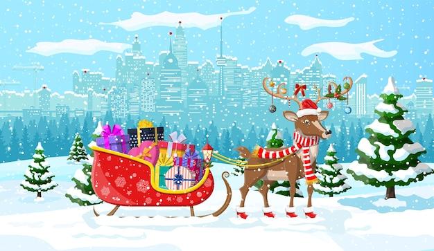 Sfondo colorato a tema natalizio