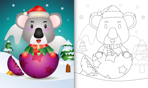 Pagina da colorare a tema natalizio