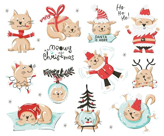 Set gattino a tema natalizio