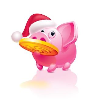 Salvadanaio a tema natalizio