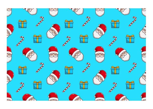 Natale a tema babbo natale senza cuciture illustrazione vettoriale design