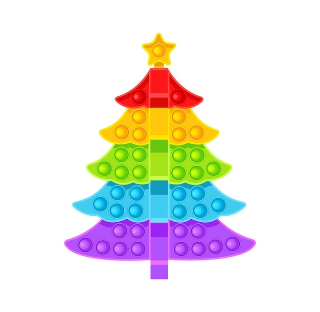 L'albero di natale è un giocattolo antistress illustrazione vettoriale