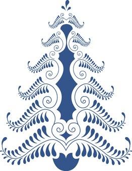 Dipinto albero di natale