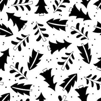 Albero di natale seamless pattern design per buon natale e felice anno nuovo avvolgimento fai da te