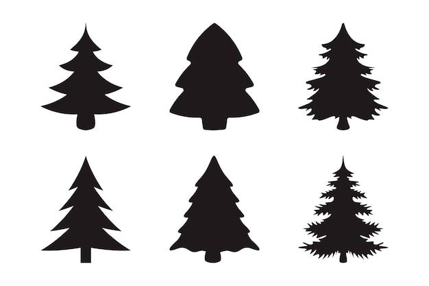 Collezione di sagome di alberi di natale